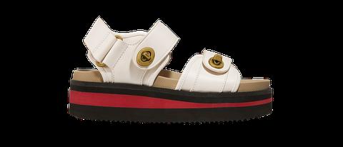 Footwear, Shoe, Beige, Sandal, Buckle,