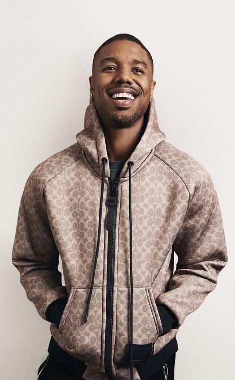 Hoodie, White, Outerwear, Black, Jacket, Hood, Cheek, Cool, Standing, Fashion,