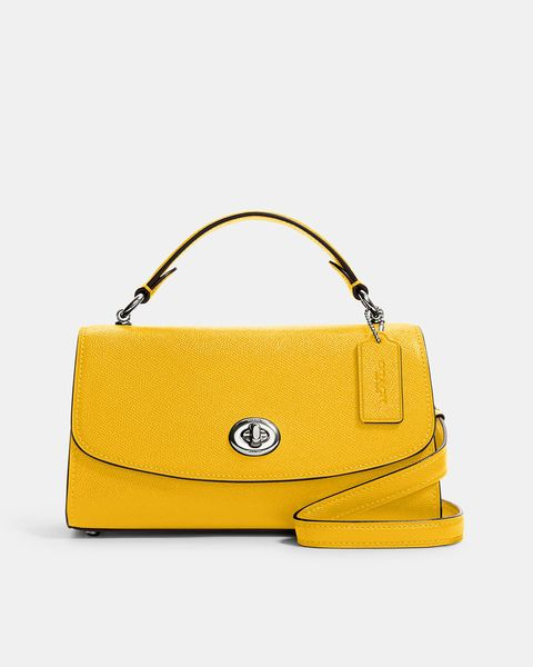 coach yellow tilly satchel