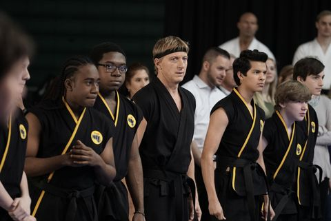 william zabka among other karate students in cobra kai