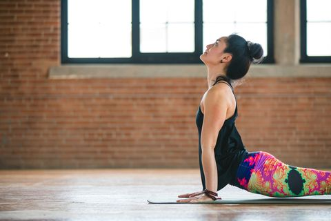 Cobra stretch Pilates move for lower back pain