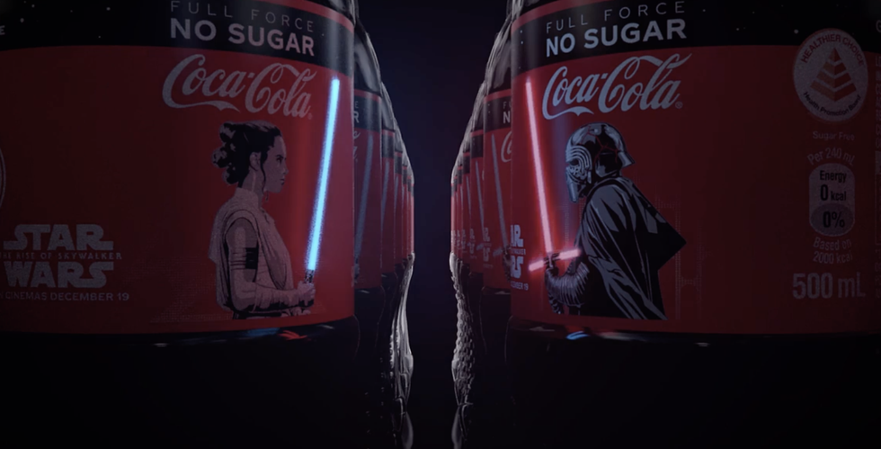 These 'Star Wars'-Themed Coke Bottles Have Glowing Lightsabers on Them