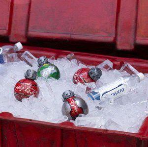 Red, Plastic, Present, Christmas, Christmas ornament,