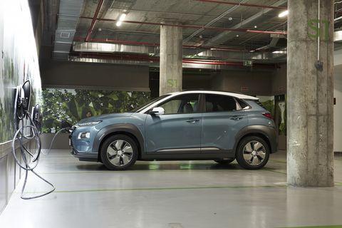 Coche eléctrico de la gama KONA de Hyundai