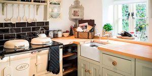 Casa de campo estilo inglés: cocina