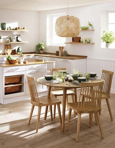cocina con office actual y funcional