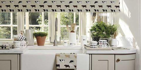Decoración animal: Cocina decorada con vacas