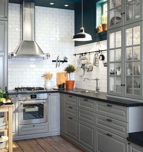 Cocina gris de IKEA