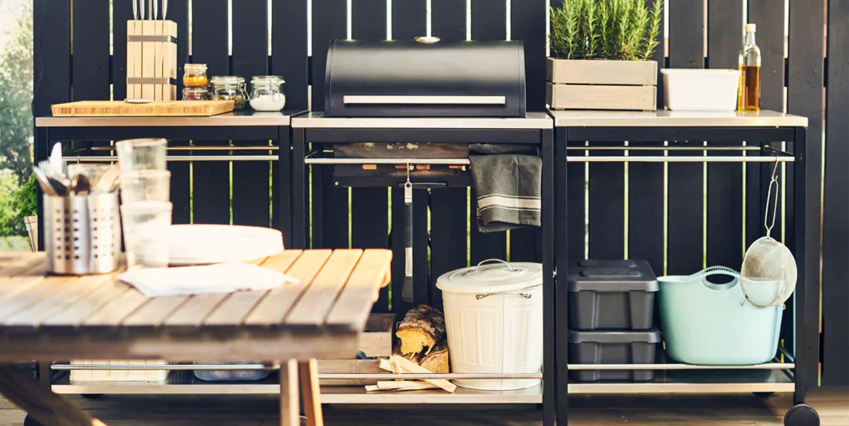 Te contamos como amueblar una cocina en la terraza para poder cocinar en el exterior en verano