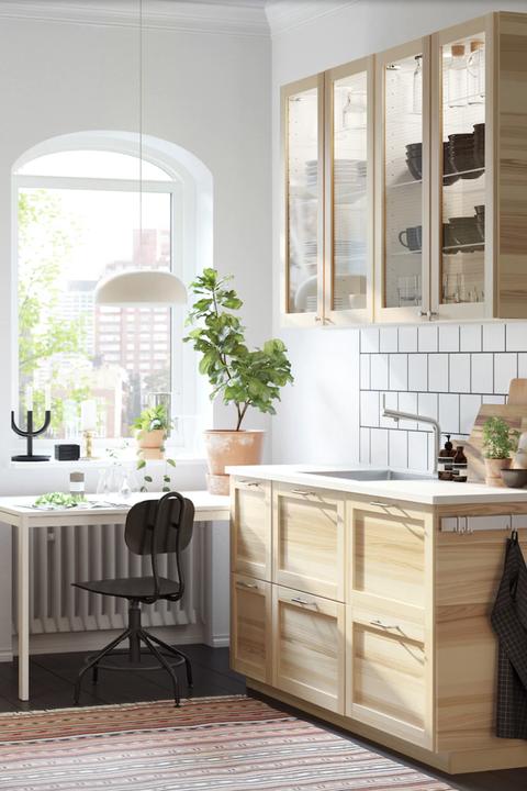 Cocina de madera de IKEA