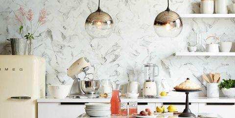 15 Cocinas Para Todos Los Gustos Decoradas Con Papel Pintado - Papeles-pintados-para-cocinas