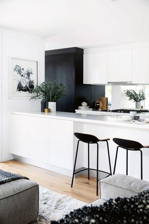 Cocinas en blanco muy modernas for Cocinas pequenas decoradas modernas