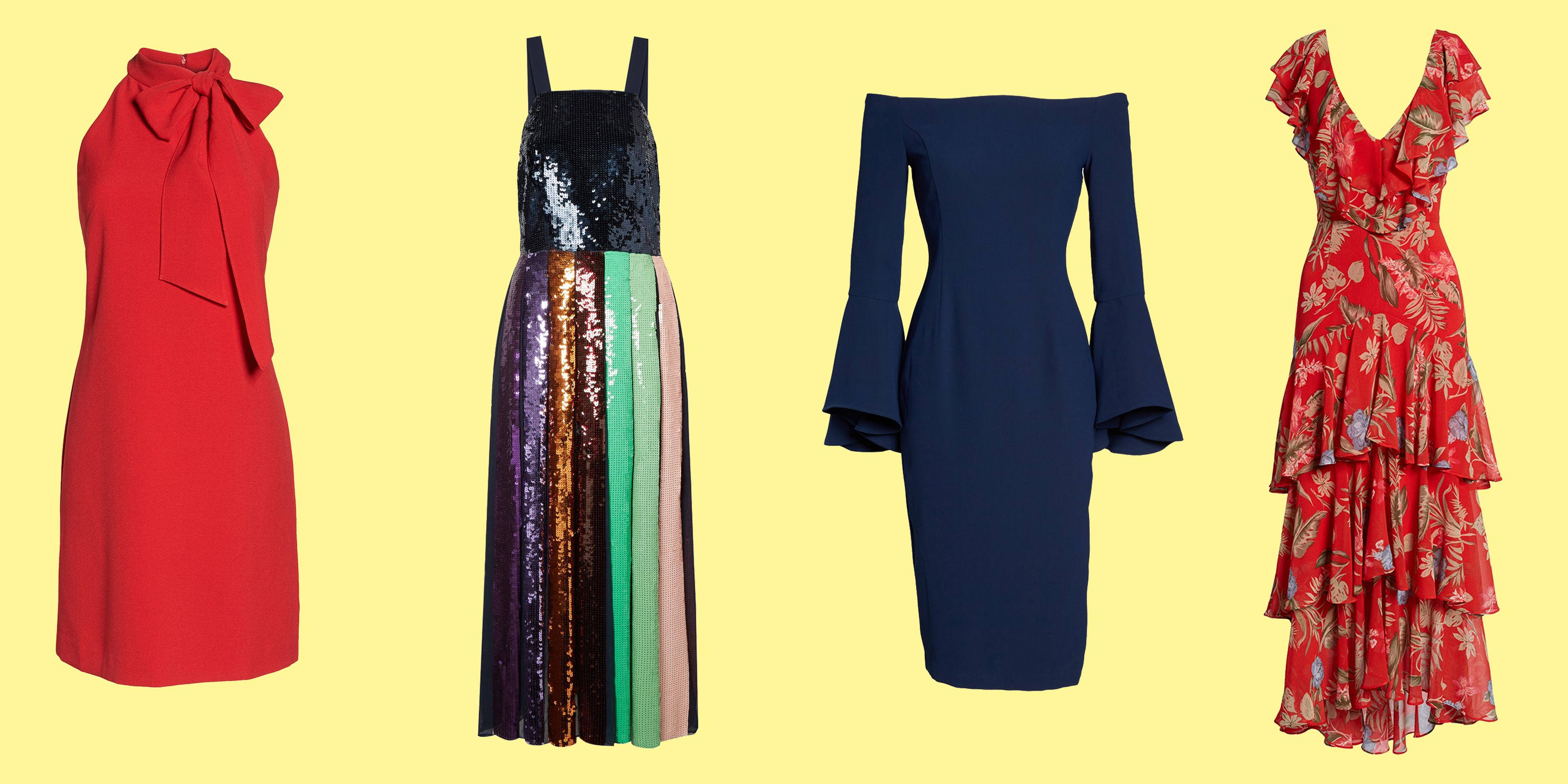 11 Cocktail Dresses That Are Ideal for a Semi-Formal Summer Wedding