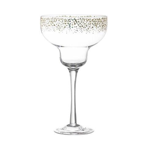 Bloomingville - Cocktailglas Daiquiri - Glas - Goud - D12xH20.5 cm - per 2 stuks