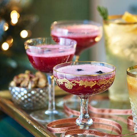 Food, Christmas, Cuisine, Dessert, Christmas decoration, Drink, Champagne stemware, Sweetness, Brunch, Table,