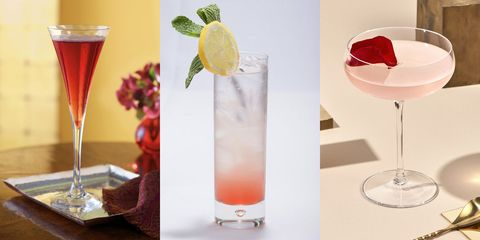 Drink, Classic cocktail, Cocktail garnish, Non-alcoholic beverage, Alcoholic beverage, Cocktail, Champagne cocktail, Wine cocktail, Paloma, Rose,