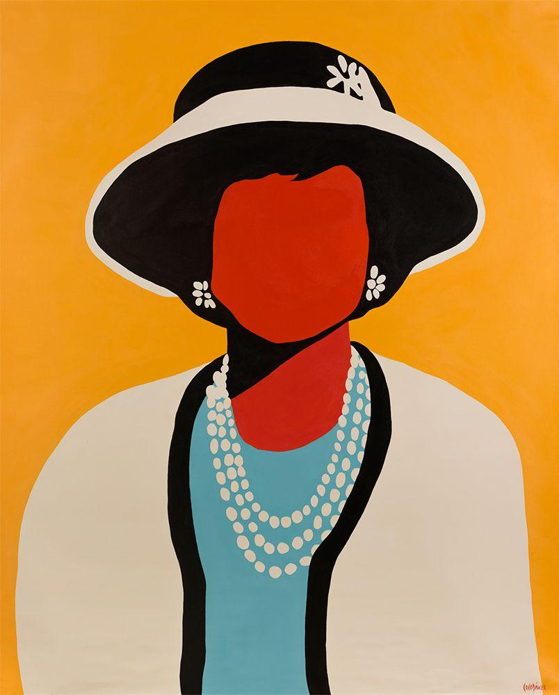 Coco Chanel, Coco Davez Faceless Exhibition, Maddox Gallery, London