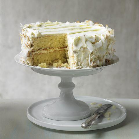 lime and coconut victoria sponge cake