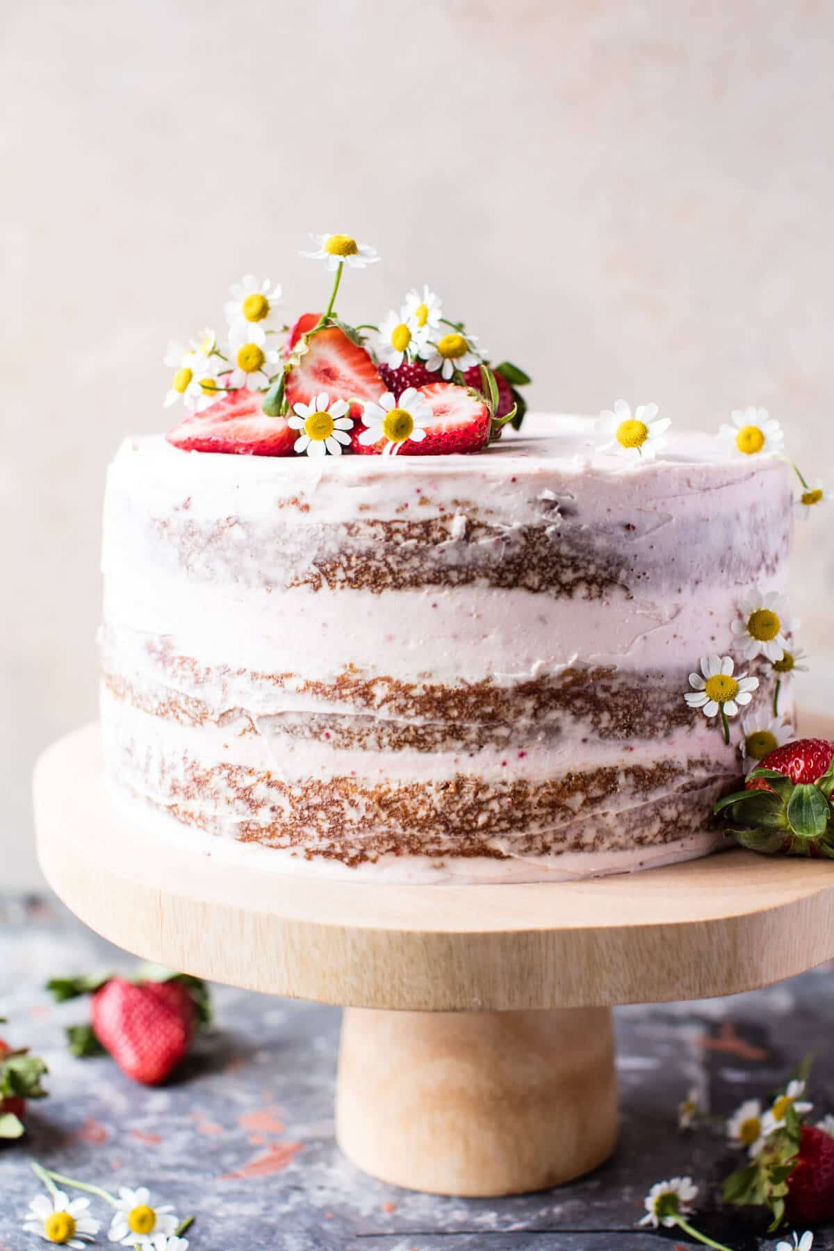 coconut cake strawberry