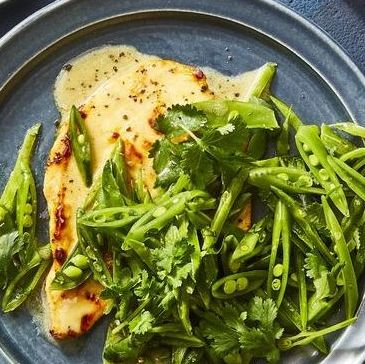 chicken breast recipes - Seared Coconut-Lime Chicken With Snap Pea Slaw