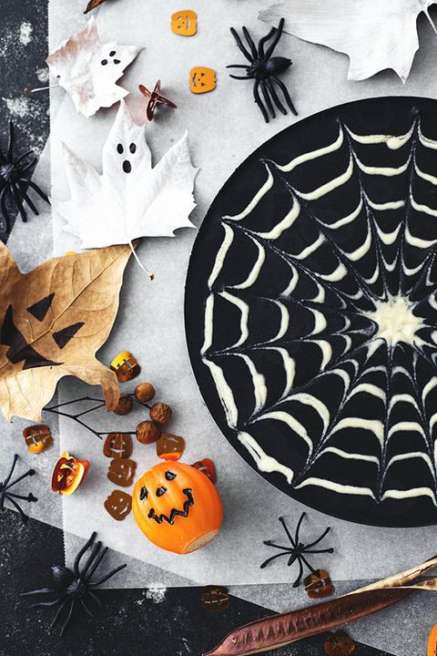 Spider web, Pumpkin, Leaf, Calabaza, Black-and-white, Plant, Pattern, Fruit, Illustration,