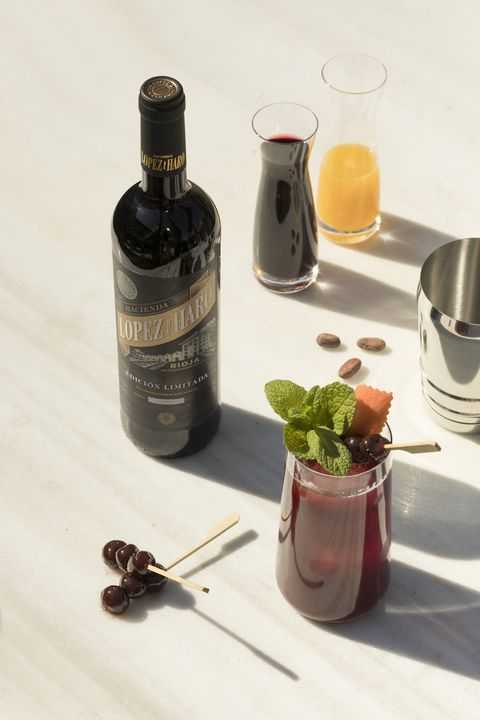 imagen de cocktail con vino lópez de haro