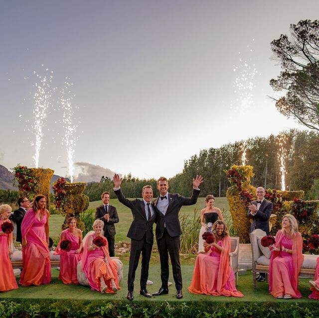 Photograph, Pink, Event, Formal wear, Ceremony, Dress, Wedding, Tradition, Photography, Tree,