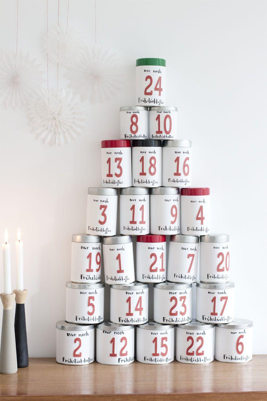tin can advent calendar