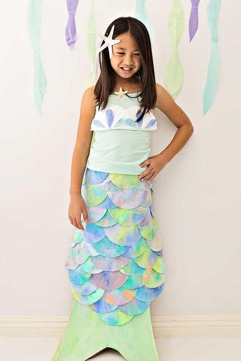 coffee filter mermaid costume