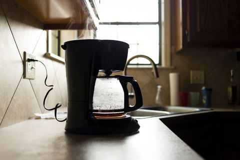 Coffee maker on kitchen counter
