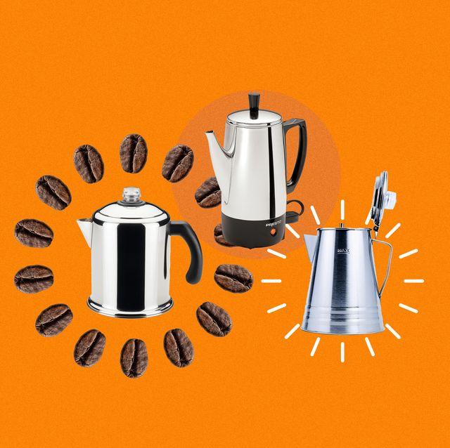 coffee precolators collage