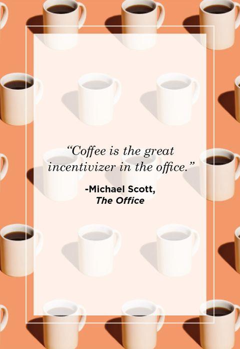 michael scott coffee quote