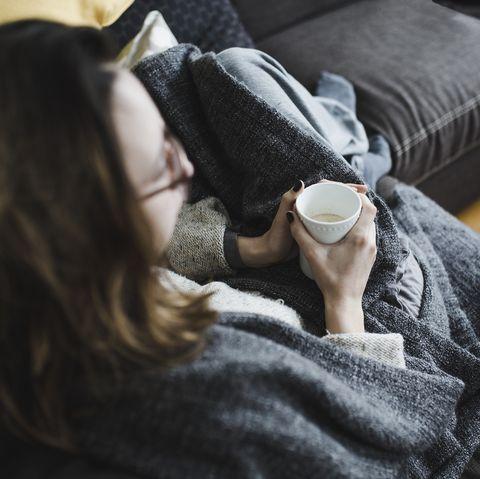 Coffee time on the sofa