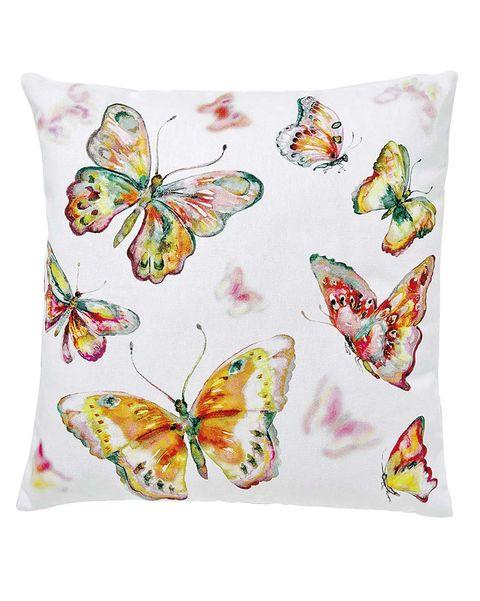Funda de cojín con estampado de mariposas