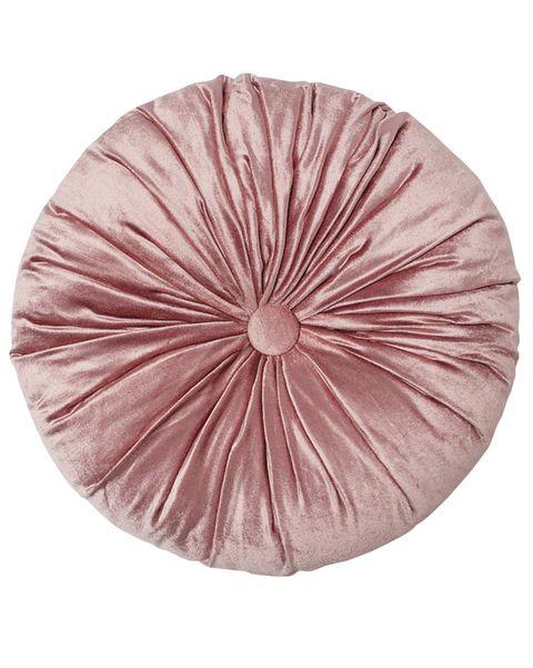 Cojín rosa tipo galleta
