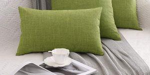Cojines de color verde