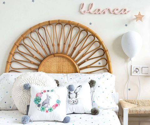 Dormitorio infantil: Cabecero artesanal
