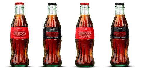 Drink, Bottle, Coca-cola, Cola, Soft drink, Non-alcoholic beverage, Carbonated soft drinks, Coca, Glass bottle, Carbonated water,