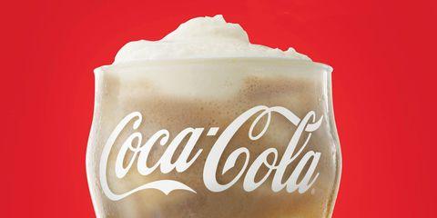 Coca-cola, Drink, Carbonated soft drinks, Cola, Soft drink, Non-alcoholic beverage, Coca, Plant, Cream,