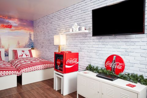 You can now stay a night in the Coca-Cola Christmas truck