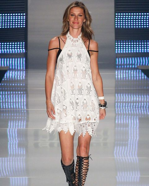 gisele bündchen, supermodels, first runway, last runway, modelling, career, transformation, debut, colcci, sao paulo, 2015