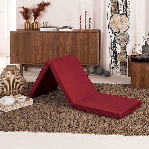 Colchón plegable en color rojo