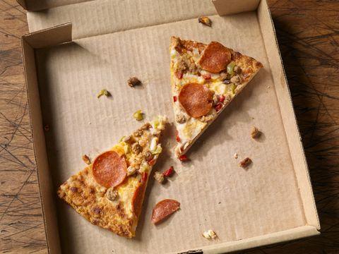 Cold, Leftover Pizza