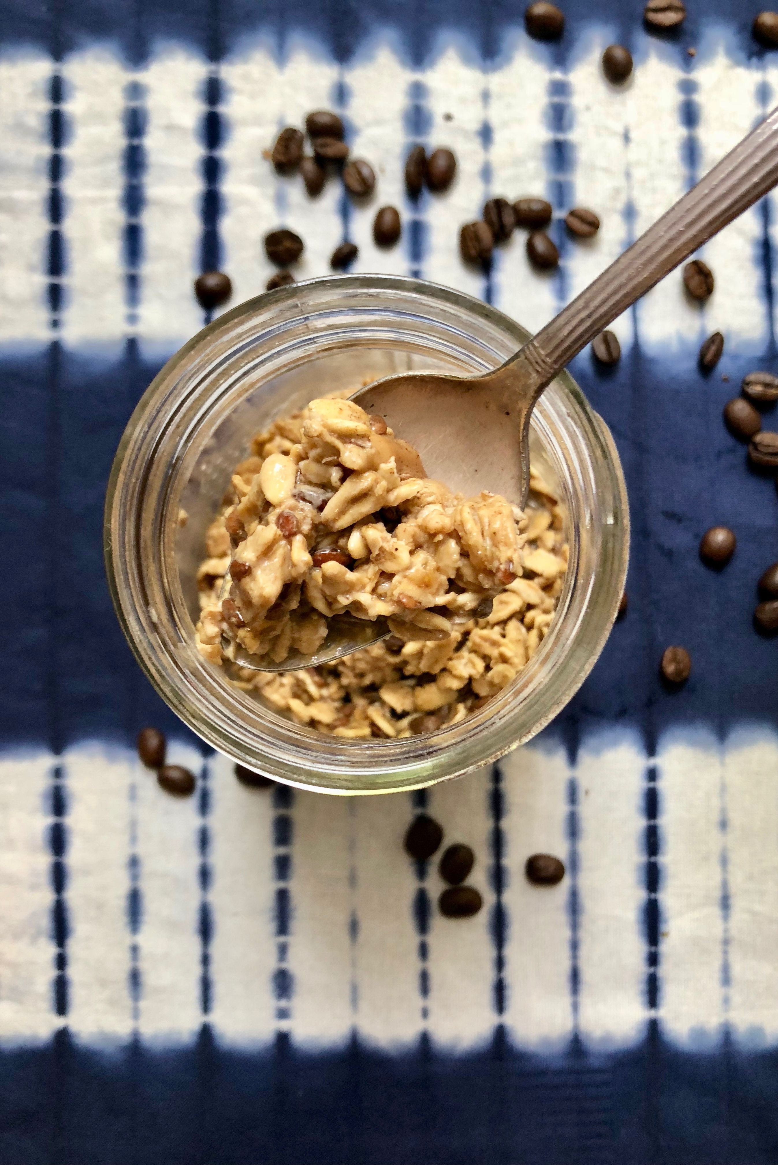 Cold Brew Overnight Oats Weight Loss Breakfast Recipe