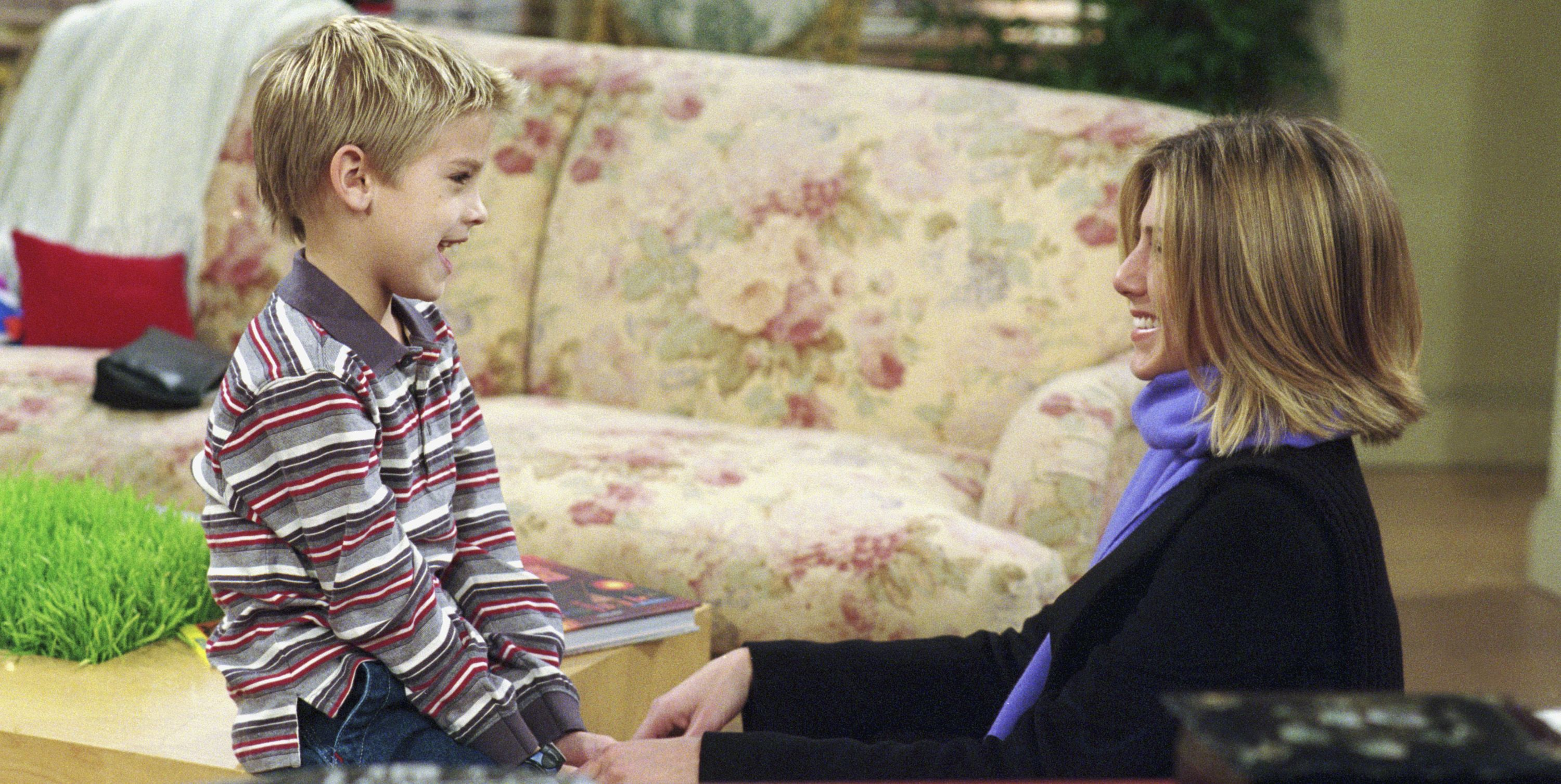 Cole Sprouse (Ben) had a huge crush on Jennifer Aniston.