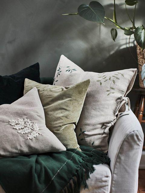 cojines de la colección botanisk de ikea