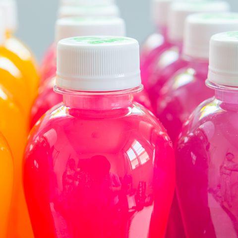 Colerful Juice in the bottle