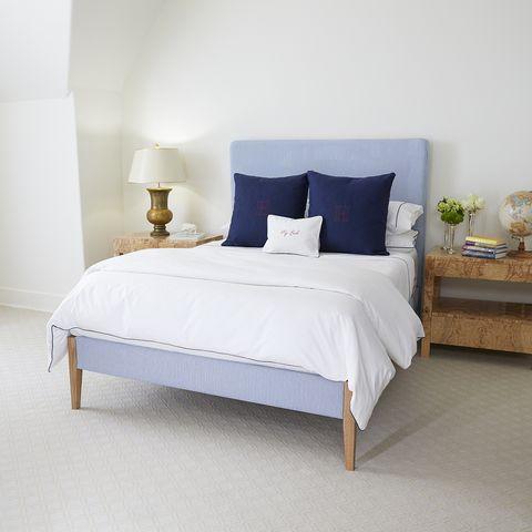 Bed, Furniture, Bedroom, Bed sheet, Bed frame, Room, Mattress, Bedding, Interior design, Floor,