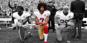Colin Kaepernick kneeling during national anthem
