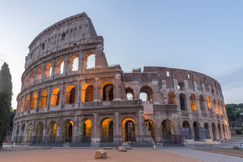Coliseum in Rome at dusk